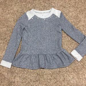 Cherokee Girl Sparkly Gray Sweatshirt Sz L (10/12)